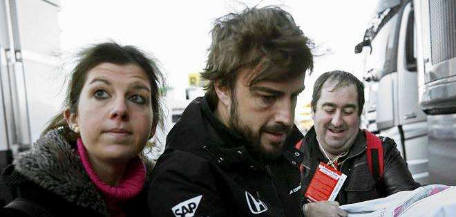 Fernando Alonso, antes del accidente (Foto: EFE)