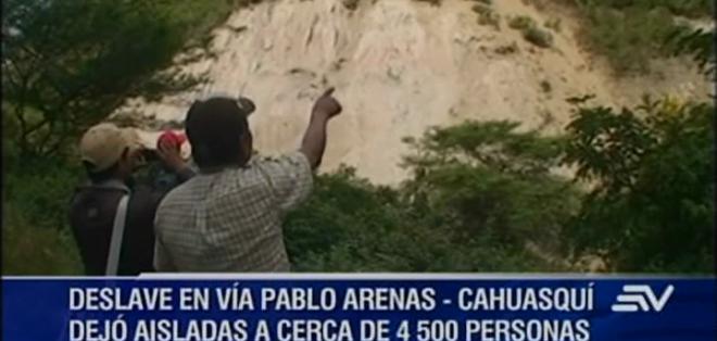 En Cahuasquí habitan 4.500 personas que desde el pasado sábado no pueden movilizarse hacía sus lugares de trabajo o estudio.