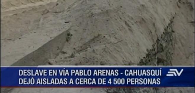 Al momento, los trabajos para habilitar esta única vía que conecta a Cahuasquí con el resto de la provincia, están paralizados.