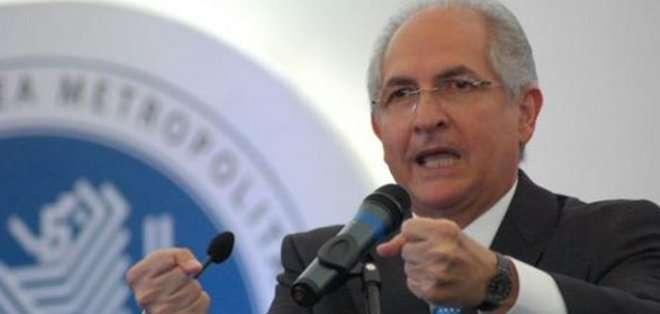 """La UE considera """"motivo de alarma"""" la detención del alcalde de Caracas"""