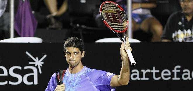 Tomaz Bellucci, durante su participación en el ATP de Río de Janeiro (Foto: EFE)
