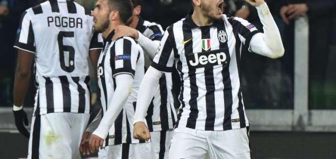 Carlos Tévez y Álvaro Morata anotaron los goles para el equipo blanquinegro. Foto: AFP