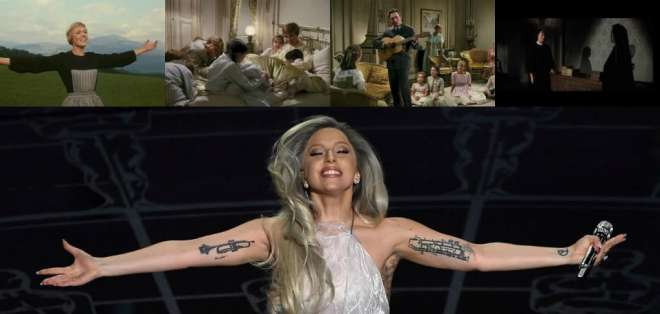 Revisa las escenas de The Sound of Music que Lady Gaga cantó en los Oscars 2015
