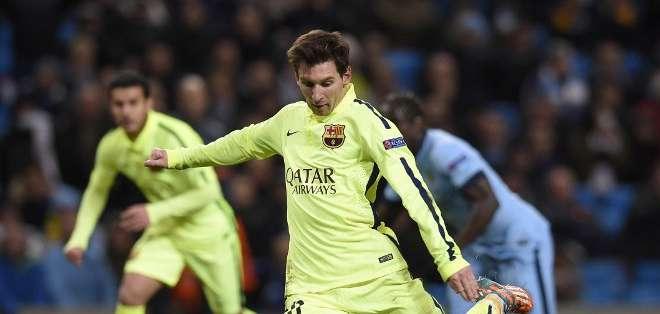 Messi no pudo con Hart. Foto: AFP.