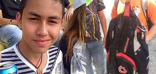 Kluiverth Roa, de 14 años falleció tras ser alcanzado por un proyectil en la cabeza.