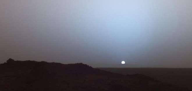 La NASA publicó en Vine una increíble puesta de sol en Marte