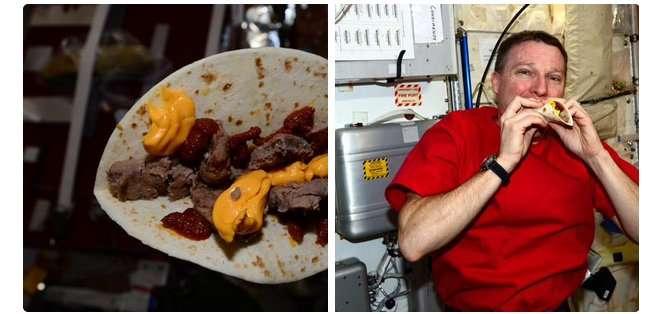 La curiosa hamburguesa que los astronautas comen en el espacio