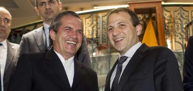 """Bassil señaló que El Líbano quiere explicar a través de Ecuador, que cuenta con una """"posición privilegiada en América Latina""""."""