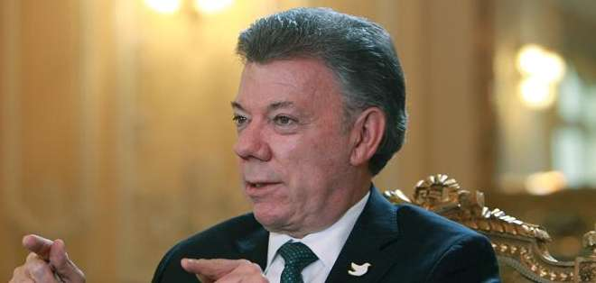 """Preguntado si está dispuesto a ser mediador, Santos respondió: """"si las dos partes lo solicitan, por supuesto"""". Foto: EFE."""