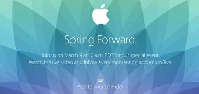 """La empresa estadounidense envió invitaciones que dicen solamente """"Spring Forward""""."""