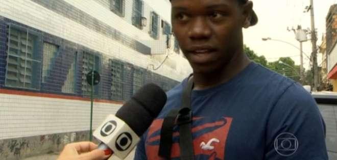 Uno de los amigos del joven fallecido y que también fue herido ha filtrado el video. Foto: TV Globo
