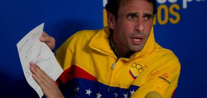 """Capriles pide a Mujica actuar para que Unasur frene """"opresión"""" en Venezuela"""