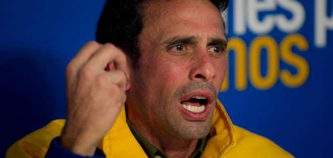 """VENEZUELA.- """"Venezuela vive una crisis social, económica y política sin precedentes"""", mencionó Capriles. Fotos: EFE"""