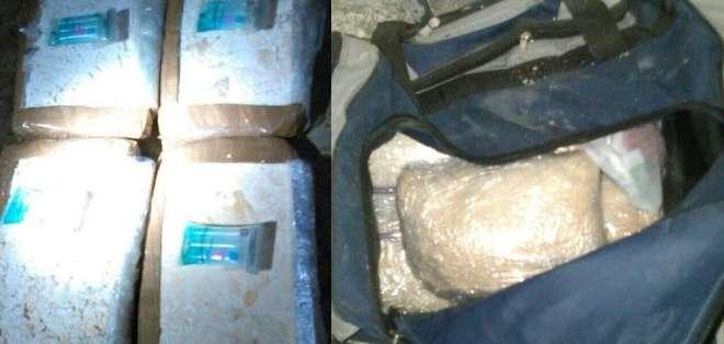 Agentes antinarcóticos allanaron el lugar donde, presuntamente, se almacenaba cocaína que se enviaría por vía marítima a otros países. Foto: Ministerio del Interior.