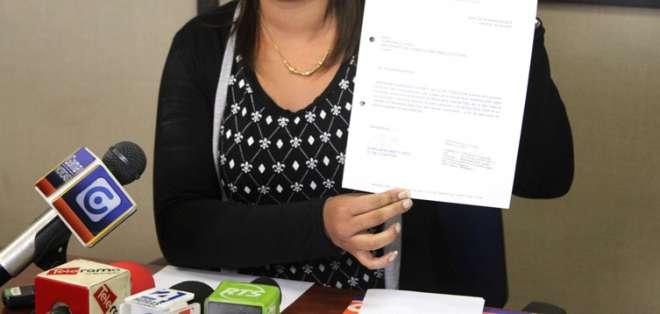 Karen Sánchez decidió desafiliarse del movimiento Alianza PAIS.