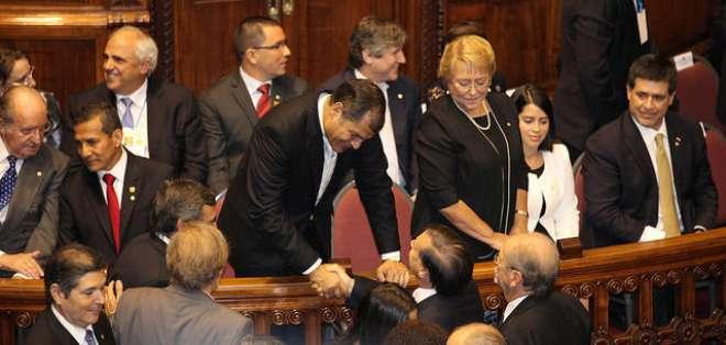 """""""Esto ya lo ha visto América Latina; acuérdense lo que pasó con (Salvador) Allende"""", dijo el mandatario en Uruguay."""
