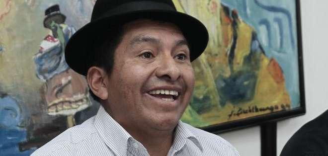 QUITO, Ecuador.- El presidente de la Conaie, Jorge Herrera, convocó a personas y organizaciones que se sumen a esta movilización. Fotos: API