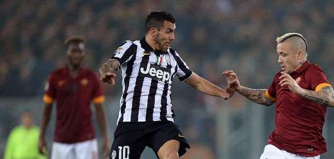 Tévez anotó para la Juve que se acerca al título. Fuente: AFP.