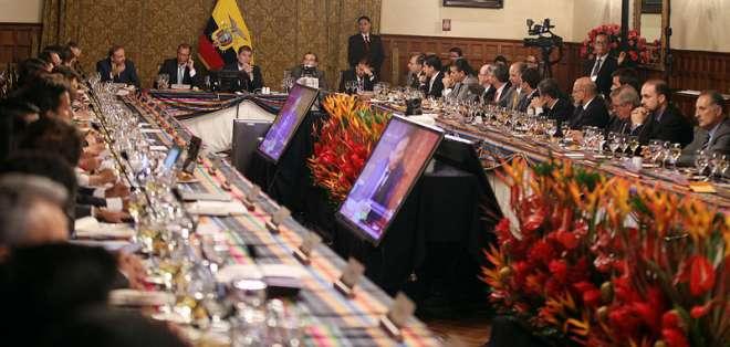 Correa sobre reunión con empresarios