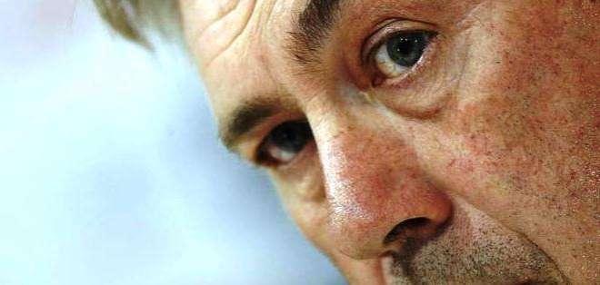 Ancelotti en una conferencia de prensa (Foto: EFE)