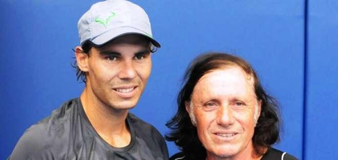Rafael Nadal junto a Guillermo Vilas (Foto: Internet)