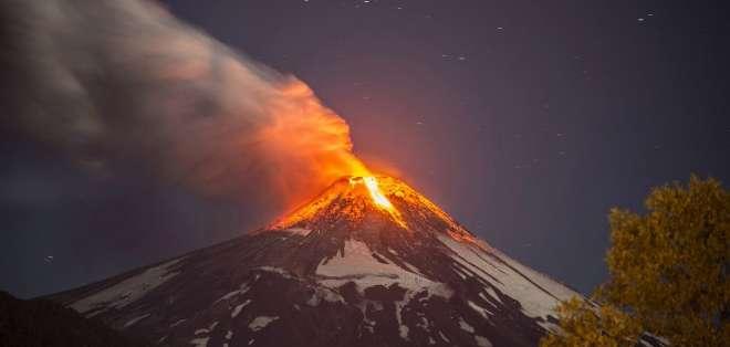 CHILE. El volcán Villarrica, de unos 2.800 metros de altura, es considerado uno de los más activos de Chile y Sudamérica. Fotos: AFP