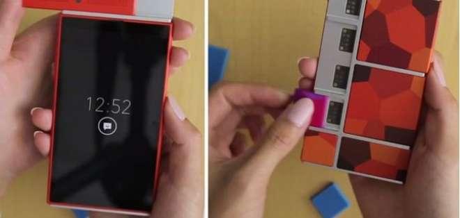 TECNOLOGÍA.- La idea de este smartphone, aun un prototipo, es simple: se compone de una estructura básica a la que se van añadiendo con electroimanes los diferentes módulos. Fotos: Internet