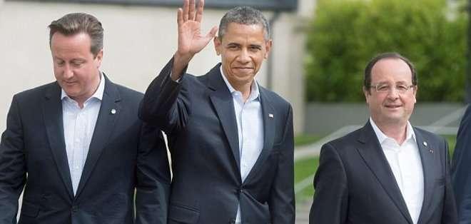 Obama, Cameron, Hollande y Merkel hablarán en videoconferencia sobre Ucrania
