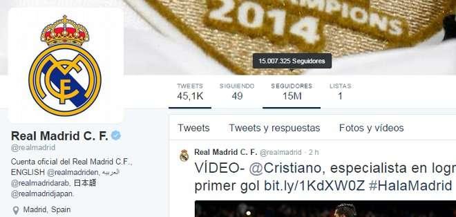 El club superó la barrera de los 15 millones de seguidores.