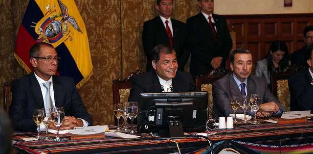 El presidente Rafael Correa reconoció la importancia del sector empresarial para el desarrollo del país. Foto: Presidencia.