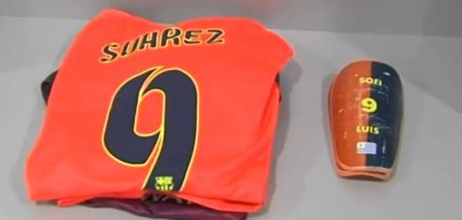 La camiseta de Luis Suárez está lista para el encuentro.