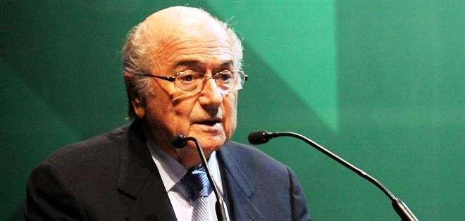 Joseph Blatter, presidente de la FIFA, en el Congreso de la CSF (Foto: EFE)