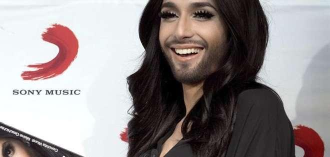 """La cantante ganadora del último Festival de Eurovisión lanzará su disco """"Conchita"""". Fotos: AFP"""