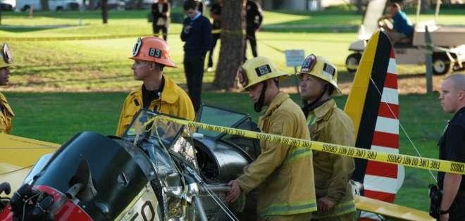 Cuando los servicios de emergencia fueron alertados de que una avioneta se había estrellado en un campo de golf.