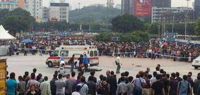 CHINA.- Por el momento, el incidente no ha sido atribuido a grupos organizados o terroristas. Fotos: Web