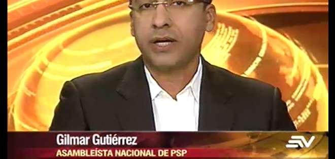 ECUADOR.- Gilmar Gutiérrez durante su entrevista en Contacto Directo. Foto