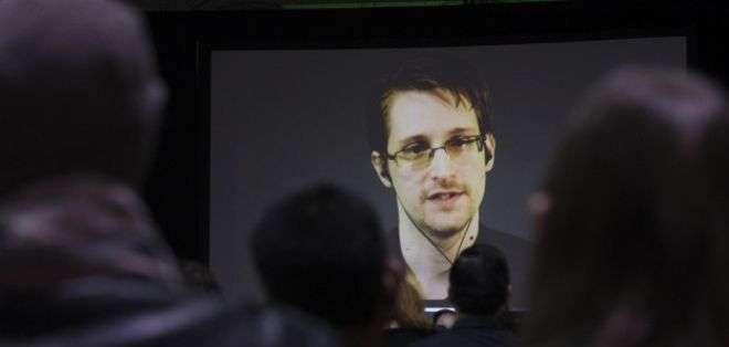 Edward Snowden ha hecho apariciones en distintas partes del mundo mediante video conferencias. Foto: BBC