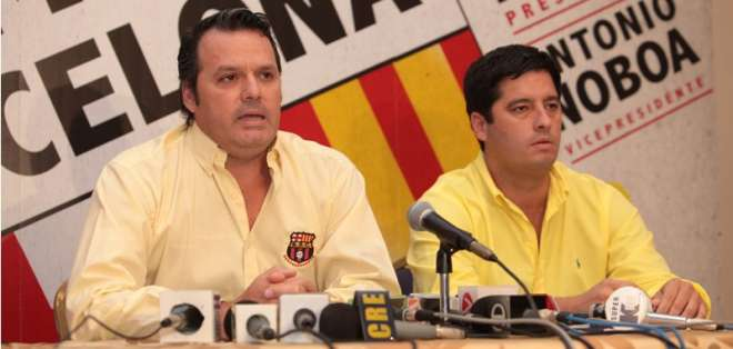 Luis Noboa espera relevar a su hermano en la presidencia de Barcelona.