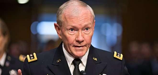 El general Martin Dempsey, llegó hoy a Bagdad para tratar sobre los avances en la lucha contra el grupo yihadista Estado Islámico. Fotos: Archivo