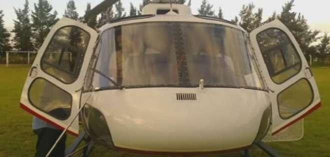 ARGENTINA.- Este es uno de los helicópteros que se accidentó. Foto: Twitter: @LaRiojaGabriel