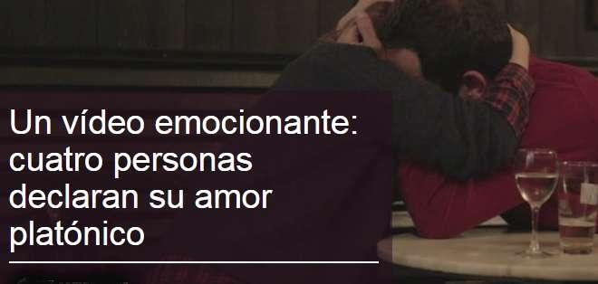 El video muestra la historia de 4 personas que se reencuentran con su amor platónico.