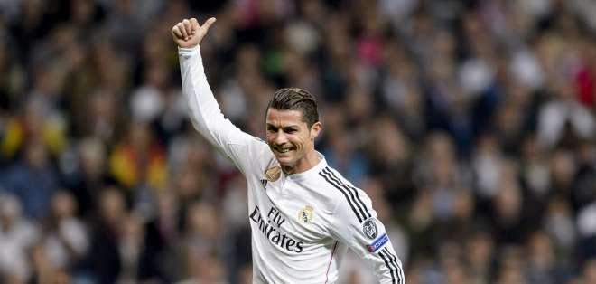 El portugués lleva 78 goles en torneos europeos. Foto: AFP.
