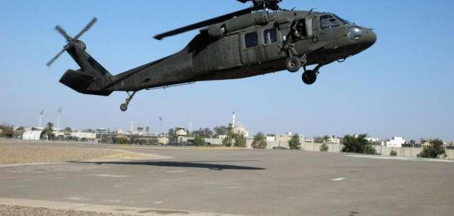 Los siete marines y cuatro soldados se encontraban en un helicóptero Black Hawk UH-60
