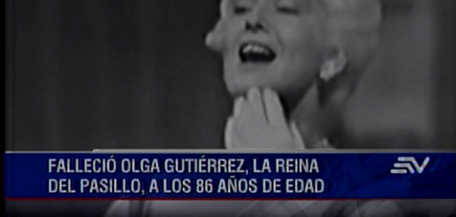 GUAYAQUIL.- La recordada cantante falleció en Guayaquil.  Fotos: Captura