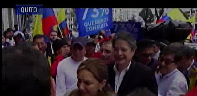 QUITO.-Compromiso Ecuador respalda la movilización del próximo 19 de marzo.  Fotos: Captura