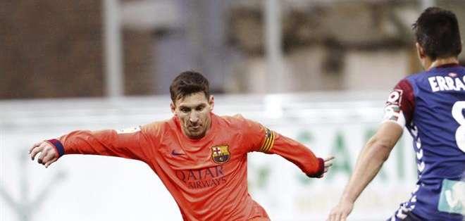 ESPAÑA.- Messi llegó a los 32 goles esta temporada en la liga española. Fotos: EFE.