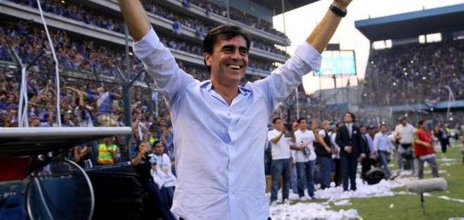 ECUADOR.- El director técnico se despide de Emelec con el partido, como visitante, ante El Nacional. Fotos: Archivo