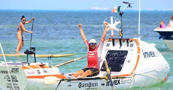 MÉXICO.- El explorador recorrió 9.000 km en 105 días, sin pasar Navidad o Fin de Año con su familia. Fotos: Twitter