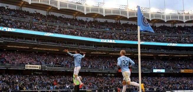 Villa celebrando su gol con el New York City (Foto: Mls.univision.com)