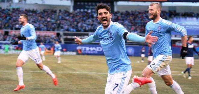 Villa, autor del primer gol del equipo celeste (Foto: Nycfc.com)